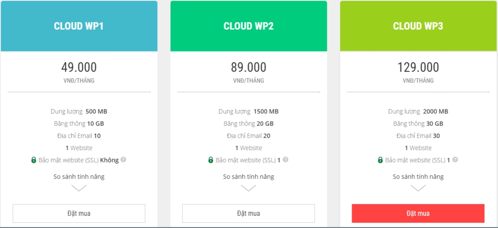 CLOUD WORDPRESS HOSTING matbao