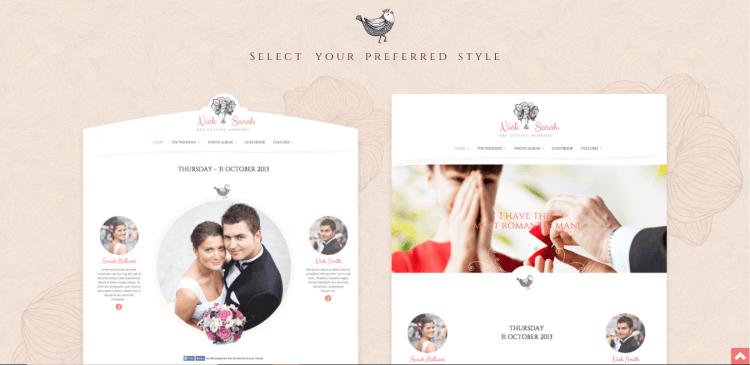 Trang web mời cưới