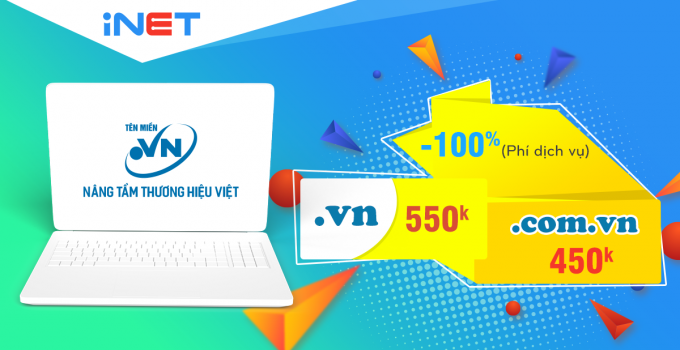 Tên Miền Việt Nam .VN Giá Sập Sàn 3 Ngày Cuối Tuần Tại iNET